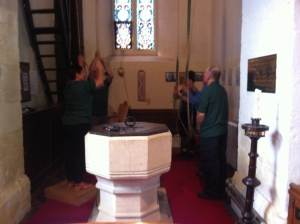 Bell ringers in action
